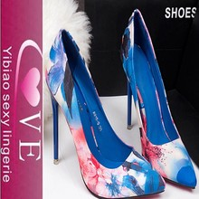 Floral pointed style and ladies pretty look high-heels shoes