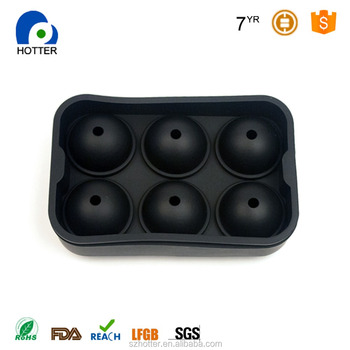 Wholesale silicone round ice tray molds