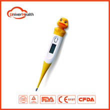 baby cartoon flexible digital thermometer with LCD display