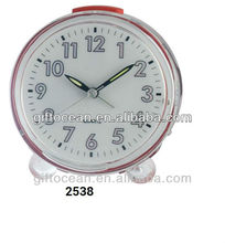 promotional clear table clock with light