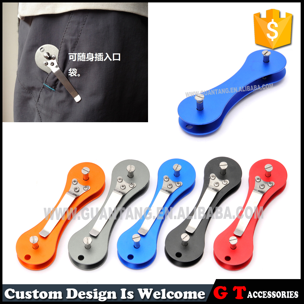 9x2.7cm Fashion quality outdoor every day carry items of key chains holder, house key ring metal organizer