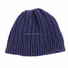 Knitted Beanies HatsWinter Caps Striped Pattern Solid Bonnet Female Hat