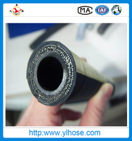 Factory water/air industrial rubber hose with fittings