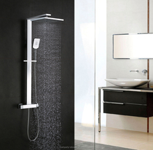 Rainparty hot sale wall mounted brass chrome bathroom bath rain shower set