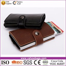 RFID Blocking Cheap Leather Credit Card Holder PU leather Wallet Credit Card Holder