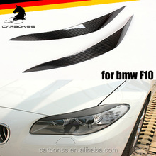 CAR HEADLIGHT CARBON FIBER EYEBROWS FOR BMW 5 SERIES F10 2010-2016