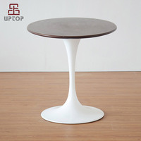 coffee furniture replica Eero Saarinen artificial Marble Tulip Side Table/oval marble tulip dining table