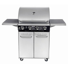 Stainless Steel powder coating Gas Bbq Grill with 4 burners