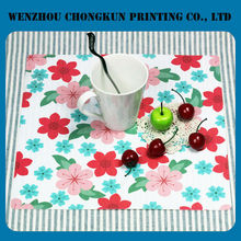 Customed printed plain white placemat