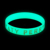New products 2016 glow in the dark silicon bracelet wrist band customized