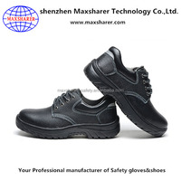 Cow leather abrasion resistance shock resistant safety shoes men
