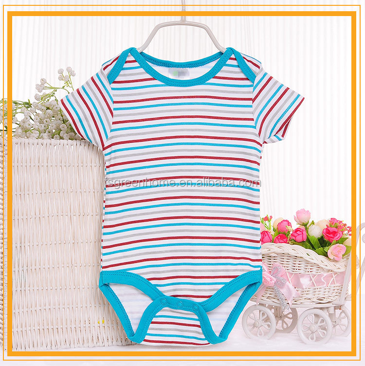 cute printed cotton short sleeve baby clothes in vietnam