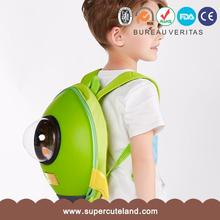 SUPERCUTE green Rocket shape 3D kids school backpack bag