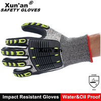 CE Level 5 Safety Impact Work Cut Resistant Gloves For oil and gas