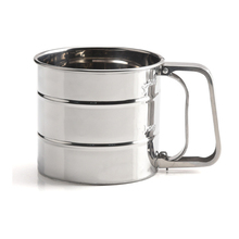 Stainless Steel Flour Sifter-Mesh Bottom Mechanical Cup Shape Flour Mesh Sifter Shaker with Measuring <strong>Scale</strong> Mark