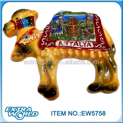 wholesale Turkey Antalya painting 3D ceramic camel home decoration