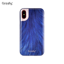 IMD Blue Animal Skin Series Slim Glossy Clear Bumper TPU Soft Case Rubber Silicone Cover For Apple iPhone X