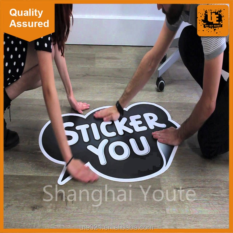 High quality home floor stickers economic full color decorative vinyl promotion stickers with great price
