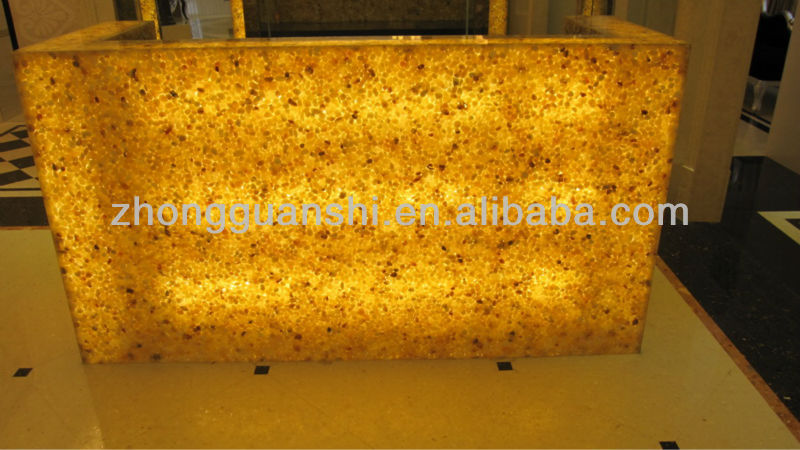 Beautiful Translucent Backlit Counter Top,Bar Hotel Used