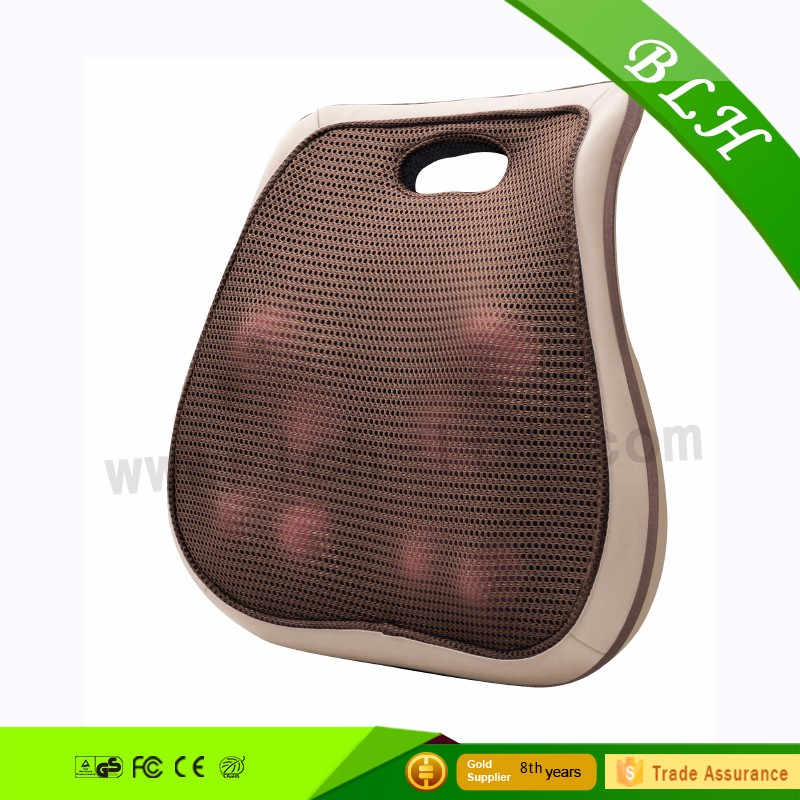 Most Popular Logo Print Strong Kneading Shiatsu Infrared Heated Back Massage Cushion For Car Seat and Seating Furniture