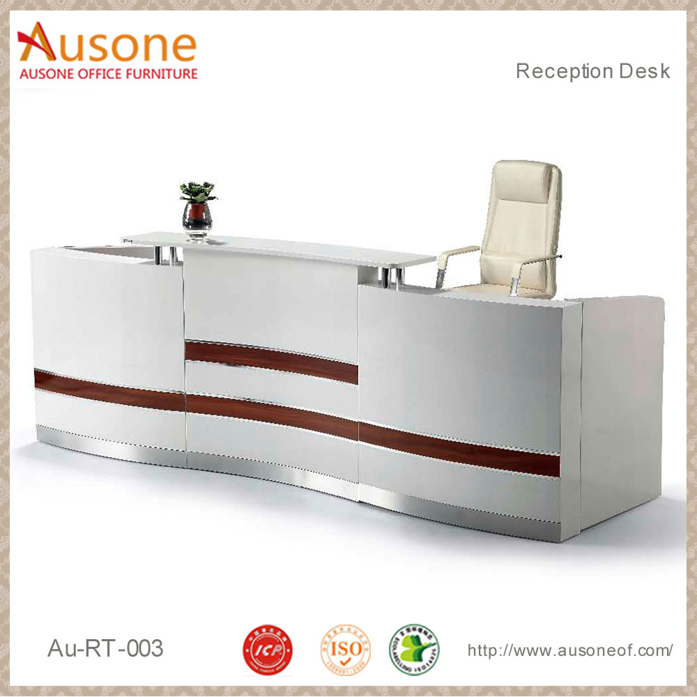 Modern office furniture 2 peple elegant reception desk cheap reception desk