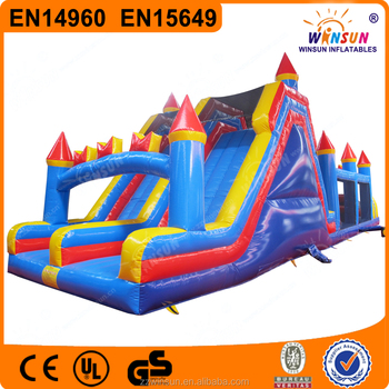 60' adult Inflatable Obstacle Course equipment for sale