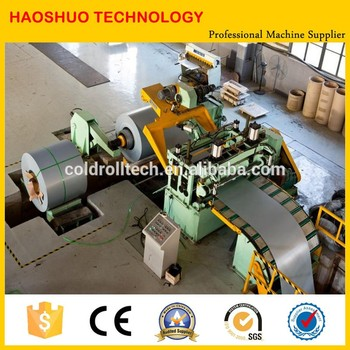 steel coil slitting and rewinding line with high speed