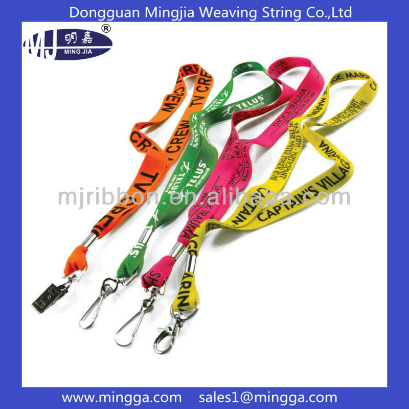 wholesale customized pattern printing busniess id card lanyard
