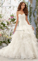 Elegant sweetheart off shoulder organza white wedding dress bridal long train wedding dress sale description of wedding dress