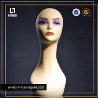 Wholesale mannequin head without hair , mannequin head for hat , mannequin head