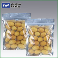 heat seal resealable plastic bags for dried fruit food with clear window