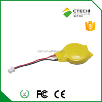 battery with tags,3V CR2032 CR2025 lithium battery with wires for notebook CMOS