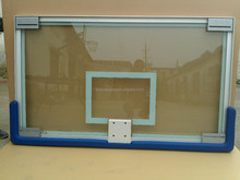 clear tempered glass basketball backboard with aluminum frame