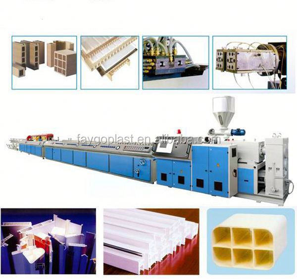 PVC foamed extrusion line wood- plastic production line