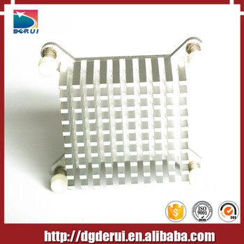 aluminum custom square forging process heatsinks zinc plating