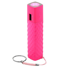 Pocket Power 3000mAh Power Bank with Flash Light Red Stencil