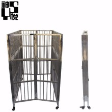 Popular pet products pet cage dog crates with wheels