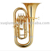 Excellent Quality 3 Piston Gold Lacquer Brass Euphonium