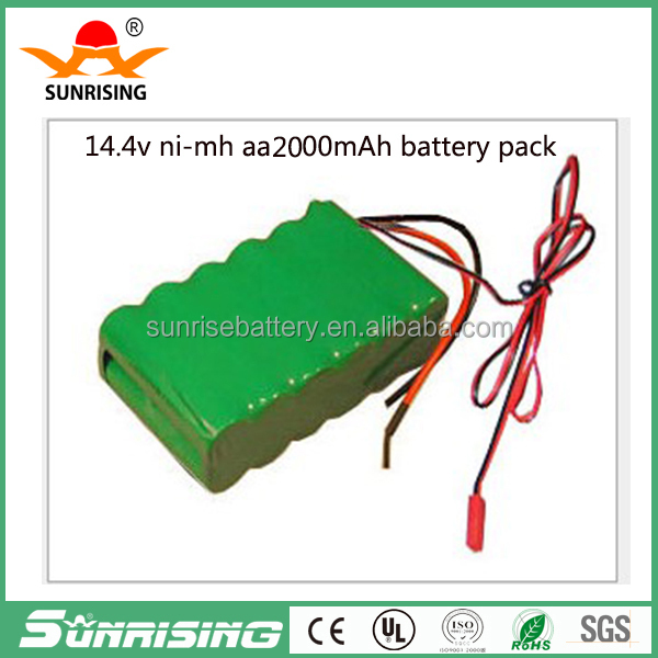 aa nimh 2000mah 14.4v vacuum cleaner battery pack/Rechargeable 14.4v nimh battery pack