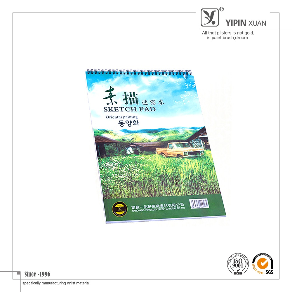 High quality simple custom sketch book for student with art picture cover
