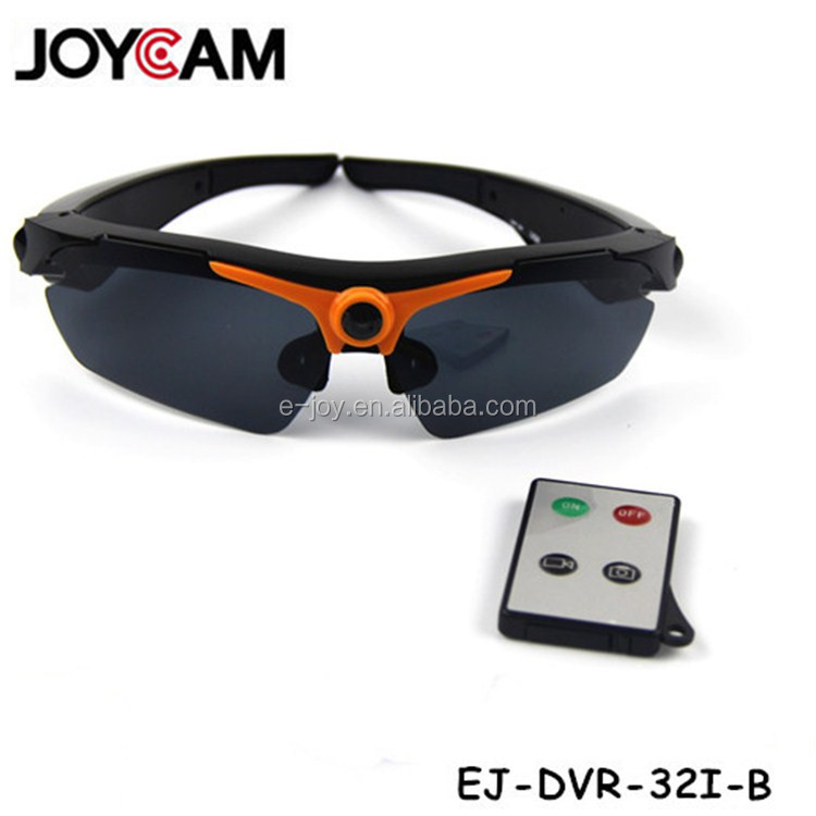 32GB 720p hd170 wide angle hd sunglasses camera with remote control sunglasses mobile eyewear recorder
