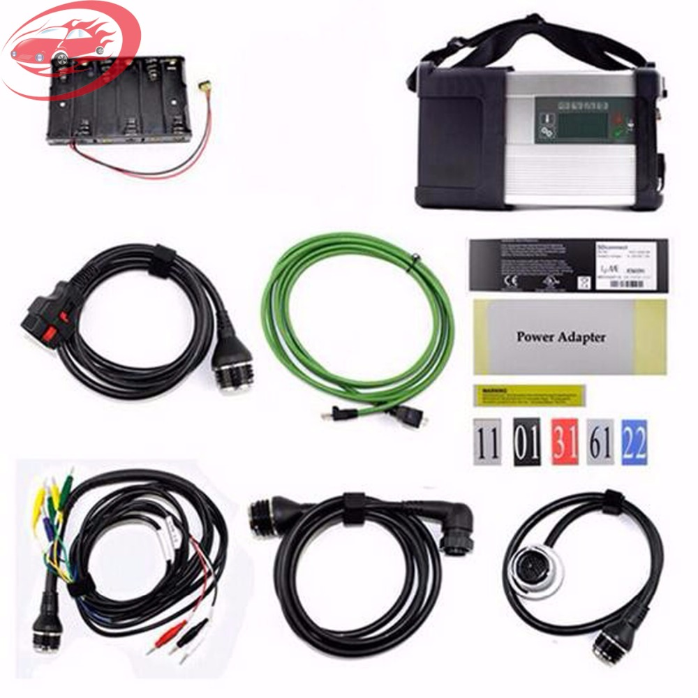 Newest MB Star C5 SD Connect with Software HDD Support Wifi Mb Star C5 Diagnostic Tool Xentry/DAS Software for Cars&Trucks