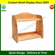 Country Farm Style 2 Tier Wooden Spice Rack / Free Standing Home Storage Organizer Shelves YM6-257