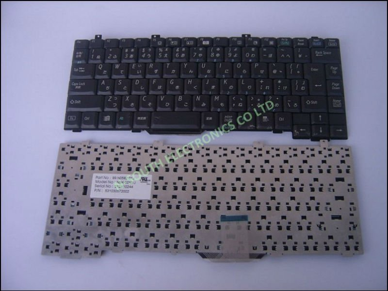 laptop keyboard for Lenovo A815 JP Black