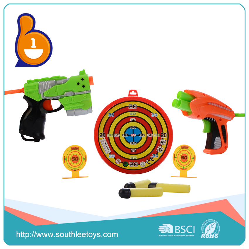 new 2017 inventions china toy kids plastic soft bullet gun with targets