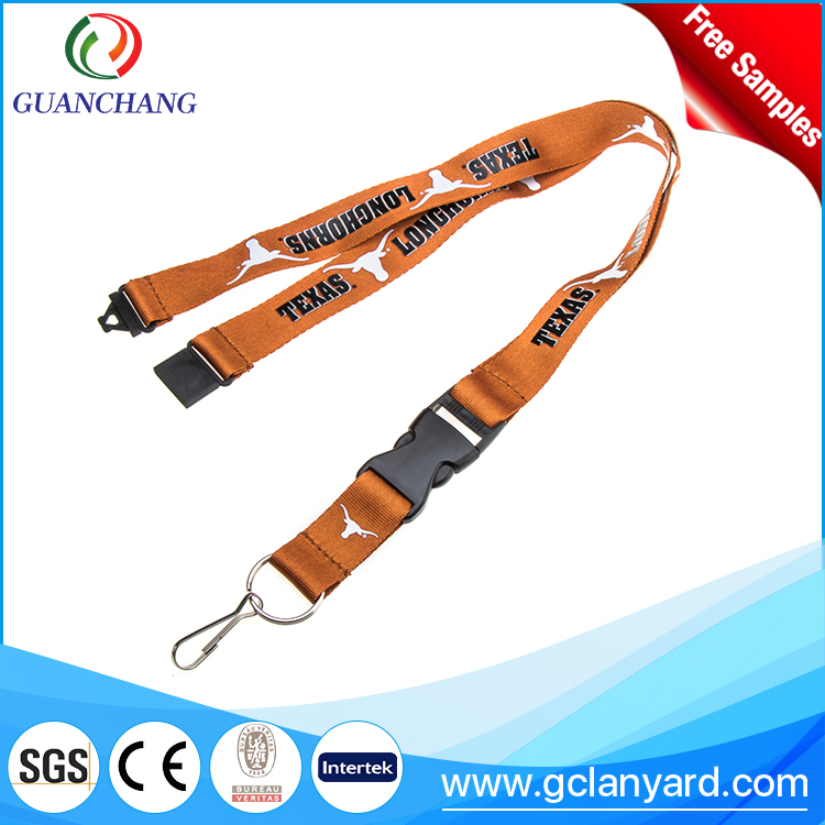 Good quality brown decorative neck strap/ safe blank cool lanyard from factory custom