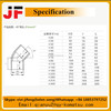 China manufacture UPVC/CPVC/ABS pipe fittings Elbow 45 adaptor