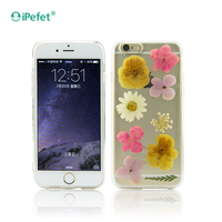 New China Products For Sale Real Dry Flower TPU Jelly for phone cases and covers