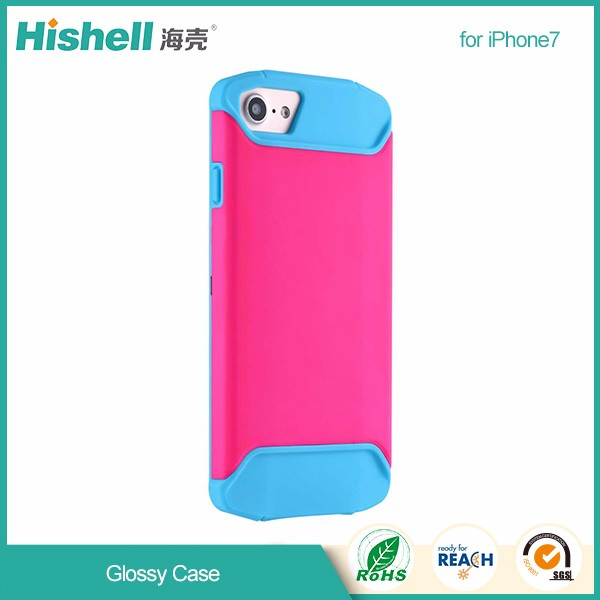 Factory Price Customized tpu+pc glossy mobile phone cover for iPhone7