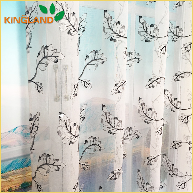 Top quality luxury embroidered drapery curtain fabrics for Best place to buy fabric for curtains